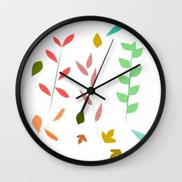 Colorful grasses Wall Clock