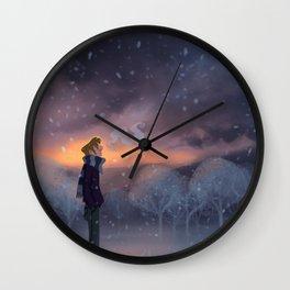 Ten Thousand Snowflakes Wall Clock