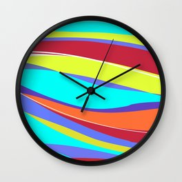 Waves of Colour Wall Clock
