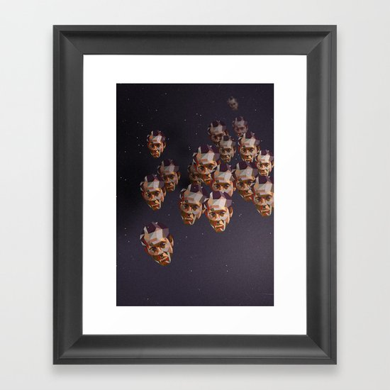 A head of the pack Framed Art Print