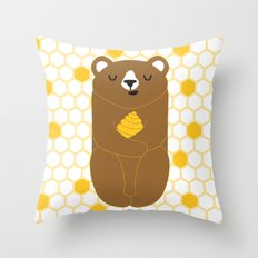 The Honey Bear Throw Pillow