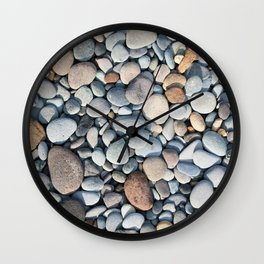 pebble stone floor, nature pattern background Wall Clock