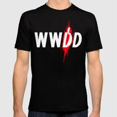 What Would Dexter Do? Mens Fitted Tee MEDIUM Black