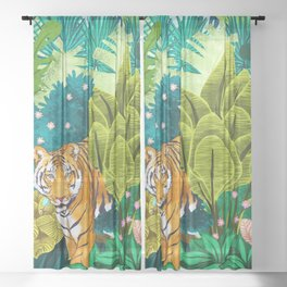 Jungle Tiger Sheer Curtain