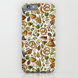 Beer Pattern | Oktoberfest Hops Malt Brewery iPhone Case