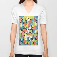 confetti V-neck T-shirts featuring Confetti  by Laura Jane Mitbrodt