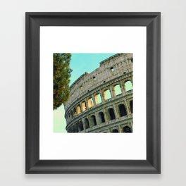 Rome Collosseum Painted  Framed Art Print