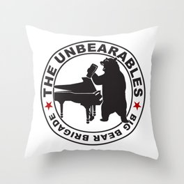 The UnBearables Throw Pillow