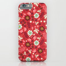 Fresh Blossoms (Reds) Slim Case iPhone 6s