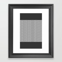 Numbers 0 to 9 Framed Art Print
