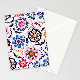 Happy Color Suzani Inspired Pattern Stationery Cards