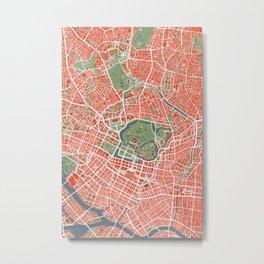 Tokyo city map classic Metal Print