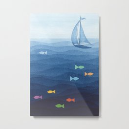 Coloured fish say hooray Metal Print