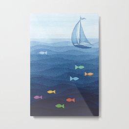 Coloured fish say hooray Metal Print