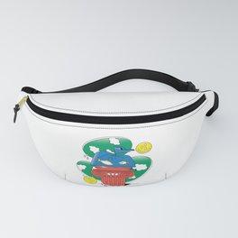 FISH IN PLASTIC BAG SURREALISM Fanny Pack