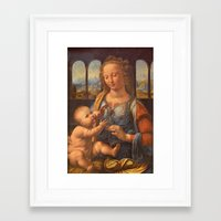 da vinci Framed Art Prints featuring Leonardo da Vinci by Palazzo Art Gallery