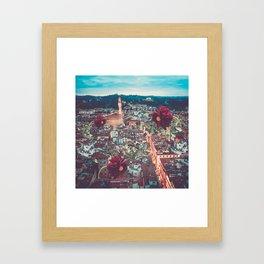 Dahlia Giants in Florence Framed Art Print