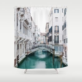 The Floating City - Venice Italy Architecture Photography Shower Curtain