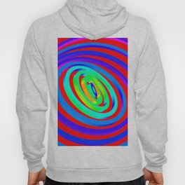 Colorful Concentric Rings Hoody
