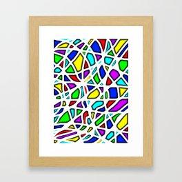 rainbow clown Framed Art Print