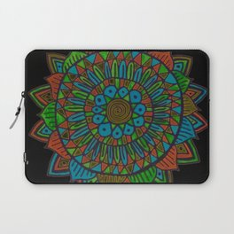 Glow Doodle Mandala Laptop Sleeve