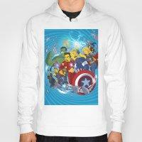 superheroes Hoodies featuring Superheroes by Adrien ADN Noterdaem