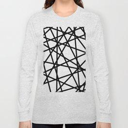 Lazer Dance Black on White Long Sleeve T-shirt