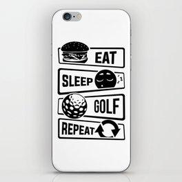 Eat Sleep Golf Repeat - Golf Ball Golf Course Putt iPhone Skin