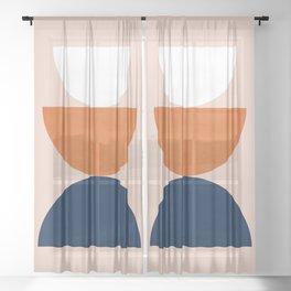 Abstraction_Balance_Minimalism_001 Sheer Curtain