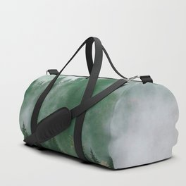Clear life's mist to see beauty. Green Duffle Bag
