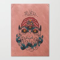 cthulhu Canvas Prints featuring Cthulhu by Zack Traum