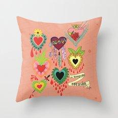 mi sangrado corazón♥ Throw Pillow