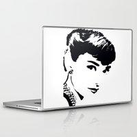 hepburn Laptop & iPad Skins featuring Audrey Hepburn by Saundra Myles