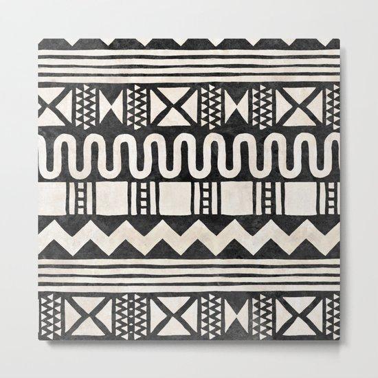 African Shapes - Black Metal Print