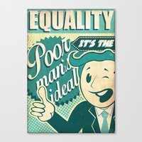 equality Canvas Prints featuring Equality by Sophie Broyd