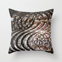 glass Throw Pillows featuring Glass by KunstFabrik_StaticMovement Manu Jobst