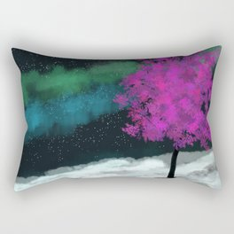 Dancing Auroras Rectangular Pillow