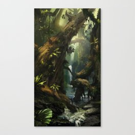 Realm of the Giant Trees   Concept Art Personal project Canvas Print