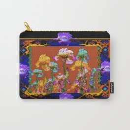 Richly Colored Italian Style Black Iris Art Carry-All Pouch