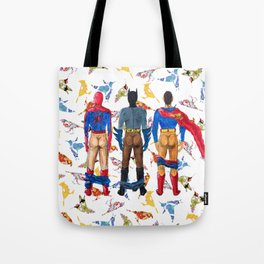 Super Hero BUTTs | It's a bird, it's a plane, it's... a booty Tote Bag
