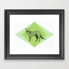 fox in forest Framed Art Print