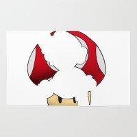 super mario Area & Throw Rugs featuring Super Mario by SEANLAR94