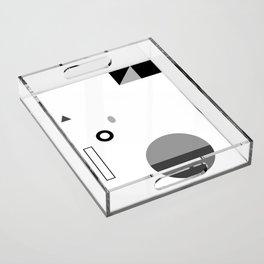 Fête No. 3 Geometric Monochrome Acrylic Tray