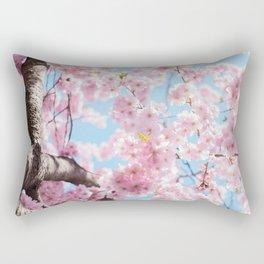 Pink Cherry Blossom Tree Rectangular Pillow