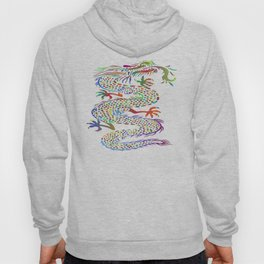 dragon asian mythical colorful Hoody