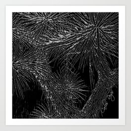 Joshua Tree Silver by CREYES Art Print