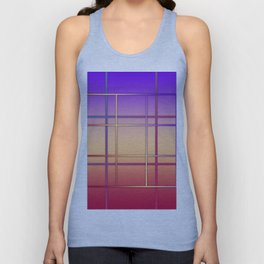 Geometric patchwork Unisex Tank Top