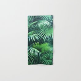 Tropical Botanic Jungle Garden Palm Leaf Green Hand & Bath Towel