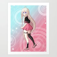 vocaloid Art Prints featuring IA - VOCALOID Gakuen by Tenki Incorporated