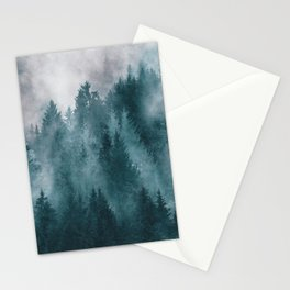 Foggy Forest 4 Stationery Cards